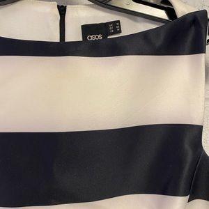 ASOS Dresses - ASOS bonded black and white stripe mini dress